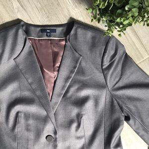GAP Gray Collarless Women's Blazer, Size 12